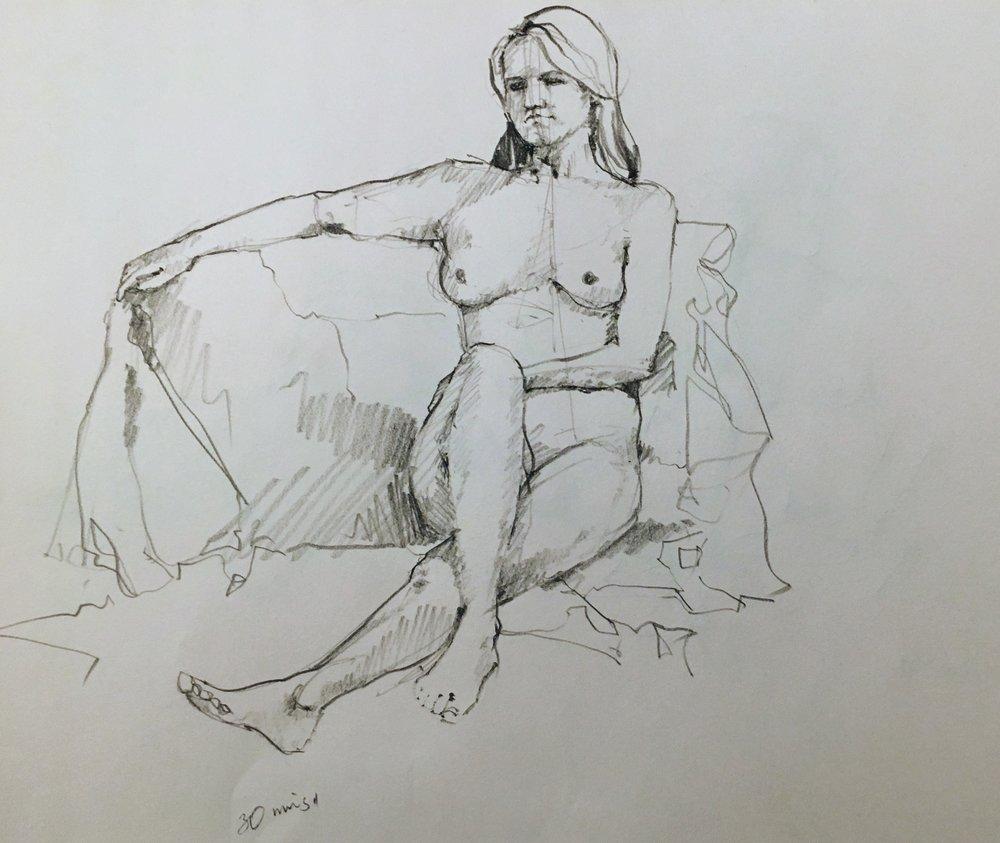 Figure Drawing at  Post Road Art