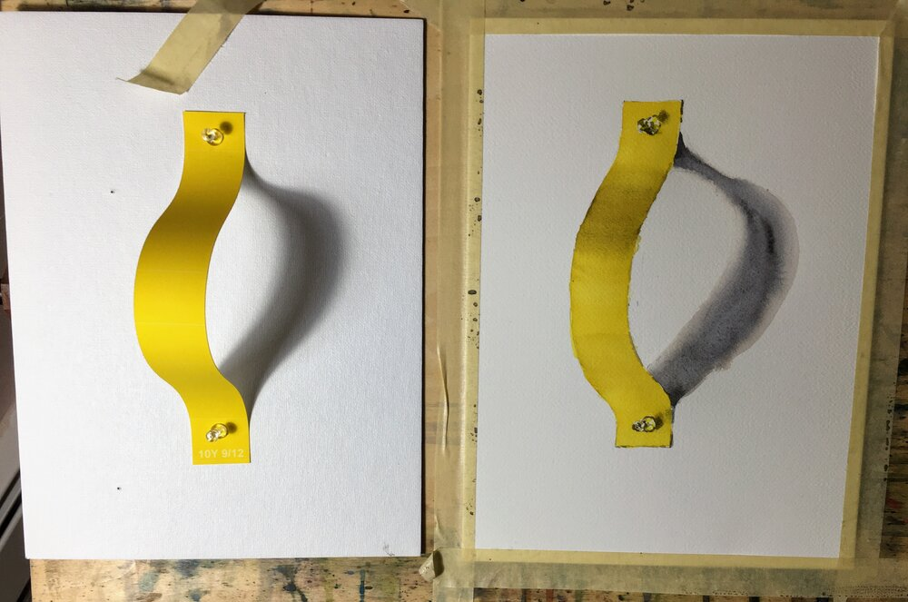 Color matching exercise - yellow strip