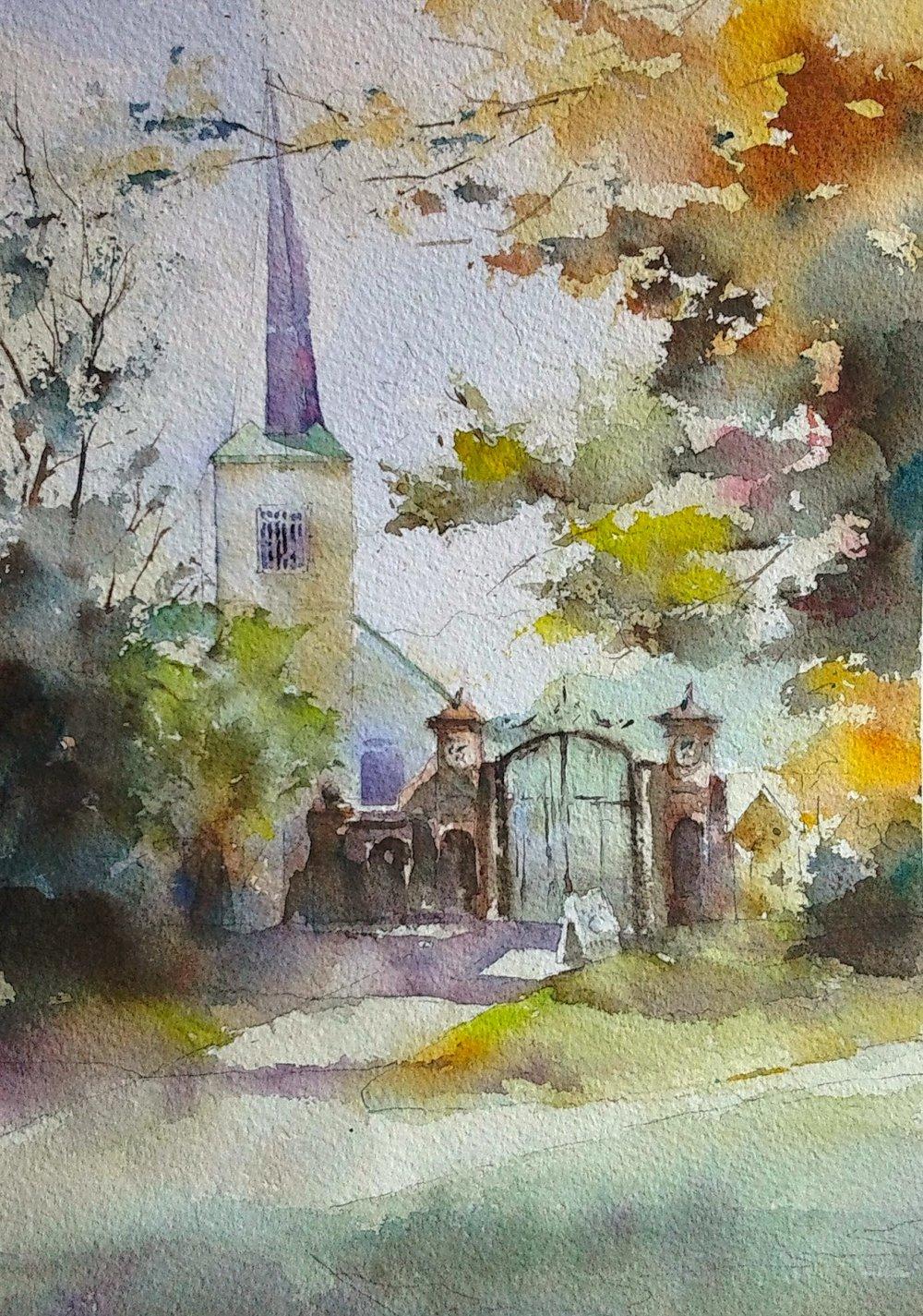 First Church, Cambridge, MA from Harvard Yard