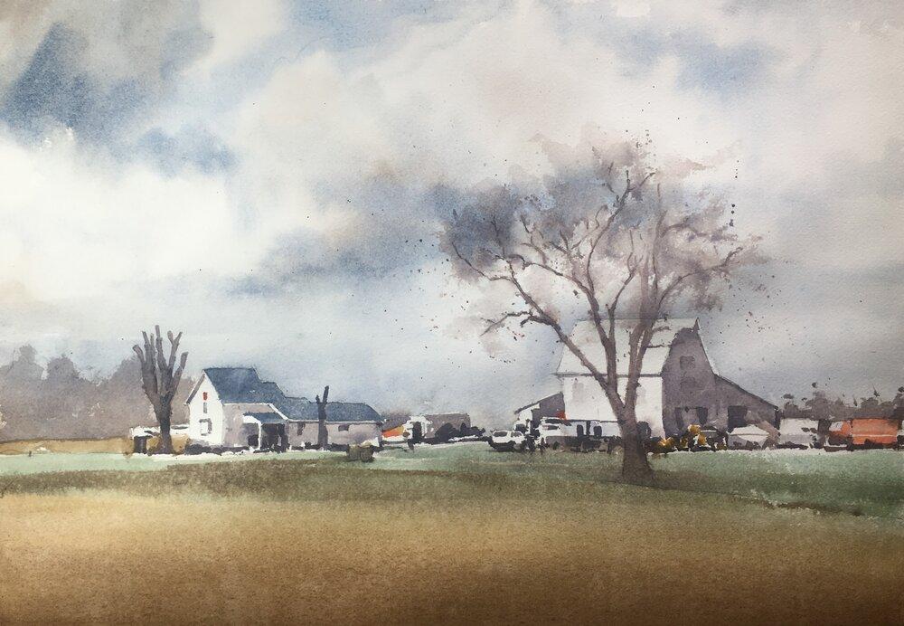 """Uncertain Future.   Michele Clamp.  Watercolor. 11""""x14"""""""