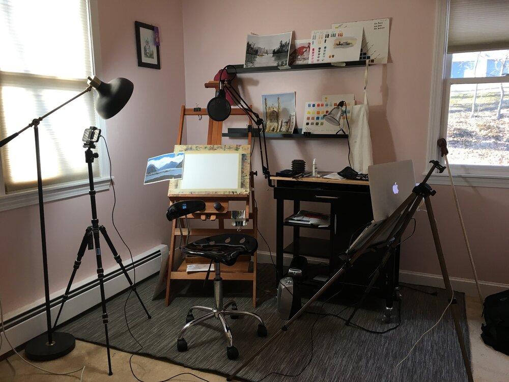 watercolor_painting_video_setup