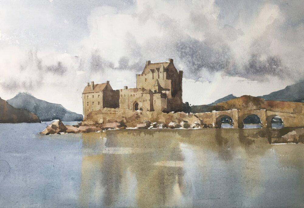 eilean_donan_castle_watercolor_painting