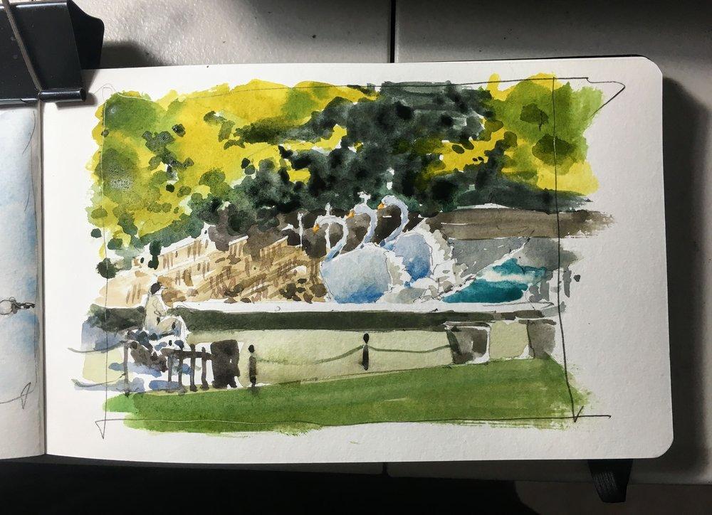 swan_boats_boston_common_watercolor_sketch