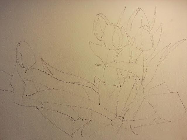 Watercolor Tulips Wetcanvas Challenge