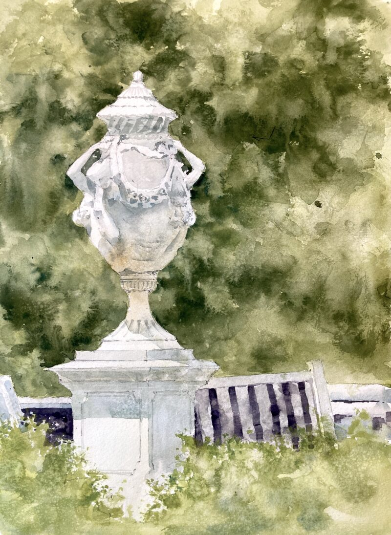 tower hill gardens watercolor by Michele Clamp