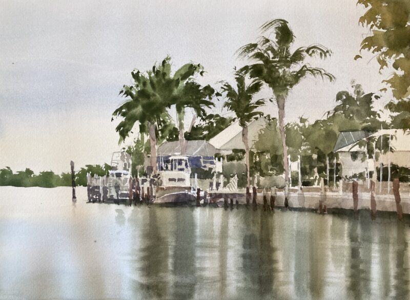 marco island florida watercolor painting by Michele Clamp